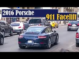 porsche 911 facelift 2016 porsche 911 facelift spotted in prague and on the