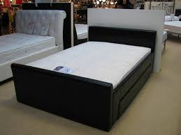 Captain Bed With Storage Bedroom Dark Brown Lacquered Oak Bed Frame Which Equipped With