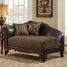 bedroom distressed style brown leather chaise lounge chair with