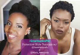 Challenge Tutorial The Cinnabun 30 Day Grow Your Fro Protective Style Challenge