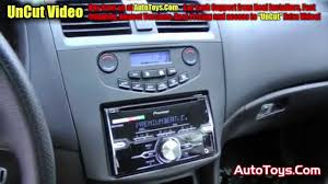 2008 honda accord dash kit honda accord din pioneer fhx720bt radio with metra kit
