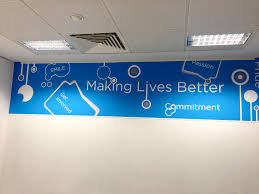 creative office branding using wall graphics wall stickers give a creative office branding using wall graphics wall stickers give a professional look to an office