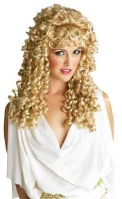 blonde wig halloween costume athena ringlets wig blonde teen u0027s halloween costumes u0026 greek
