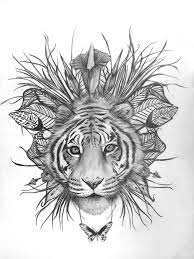 38 best tigers images on pinterest tribal tiger tattoo drawings