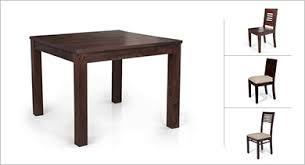 4 Seater Dining Table And Chairs Buy 4 Seater Wooden Dining Sets In India Ladder