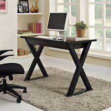 walker edison urban blend computer desk 48 inch computer desk black by walker edison