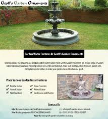garden water features at geoff s garden ornaments visual ly