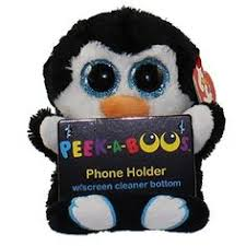 ty peek boo phone holder screen cleaner bottom scout