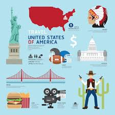 Washington travel icons images Usa flat icons design travel concept vector stock vector image jpg
