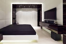 Bedroom Headboard Wall Unit Apartment Bedroom White Stain Wall Features Varnished Wood Built