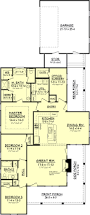 Narrow House Plans country floor plan 1900 s f 3 bedroom 2 bath suitable for narrow