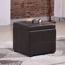 cube storage ottoman with tray wayfair