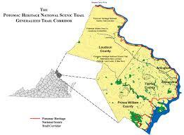 Potomac River On Map Potomac National Heritage National Scenic Trail
