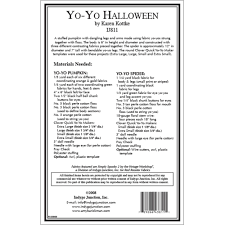 yo yo halloween spider and pumpkin sewing pattern by indygo