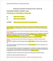 general power of attorney form 9 free word pdf documents
