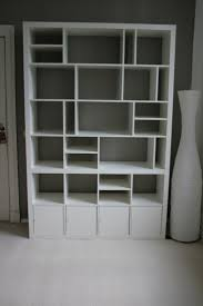 Black And White Bookcase by Furniture Interesting Bedroom Devider With Black Ikea Expedit