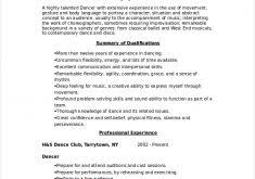 Dancer Resume Sample by Beautifully Idea Dance Resume Template 10 Dancer Resume Template