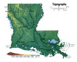 State Map Of Louisiana by Landscape Louisiana