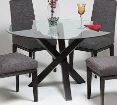 Glass Top Dining Room Table Magnificent Halo Dining Table With 48 Glass Top Crate