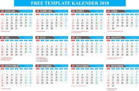 Kalender 2018 Hd Template Gratis Kalender Lengkap 2018 Format Coreldraw Editable