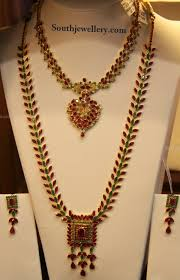emerald necklace sets images Ruby emerald necklace set jewellery designs jpg