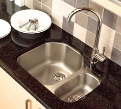 double bowl undermount sink modern kitchen faucets black marble