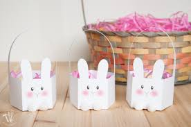 easter bunny baskets printable bunny basket the family