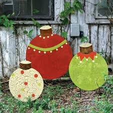 christmas lawn decorations christmas lawn decor best plywood images on ideas yard stakes