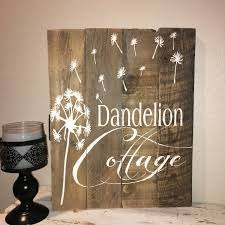 custom barn wood sign wish rustic barn wood dandelion make a