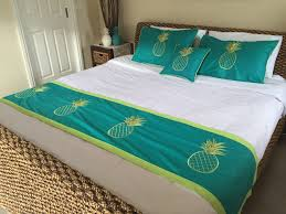 Turquoise Home Decor Accessories by Turquoise Villa Style Pineapple Pillow Cases Bed Runner U0026 Cushion
