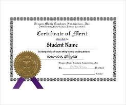 merit certificate sample 6 merit certificate templates excel pdf
