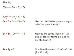 common worksheets combining like terms worksheet answers