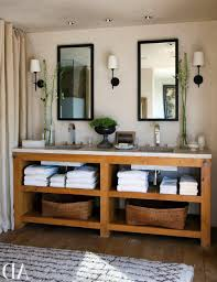 Rustic Bathrooms Rustic Bathroom With Exposed Wood Beams And Vintage Look Double