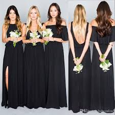 black bridesmaid dresses 2017 summer boho black bridesmaid dresses mixed styles a