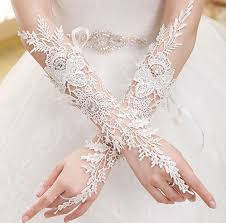 bridal gloves luxury lace flower wedding glove wedding