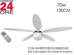 ventilatore soffitto telecomando ventilatore a soffitto 纔130cm 5 pale con telecomando luce