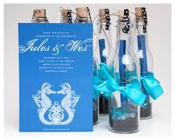 wedding invitations in a bottle wedding invitation ideas lovely blue wedding invitations