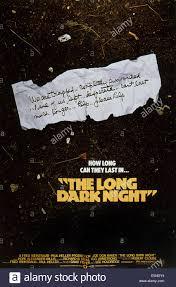 the long dark night u s poster 1977 stock photo royalty free