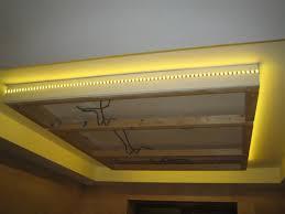Led Ceiling Strip Lights by Led Strip Light Around Suspended Ceiling Home Pinterest Led