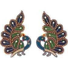 peacock design earrings peacock earrings shop for peacock earrings on polyvore