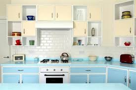 Vintage Kitchen Decorating Ideas Small Retro Kitchen Decorating Ideas With Soft Blue Kitchen