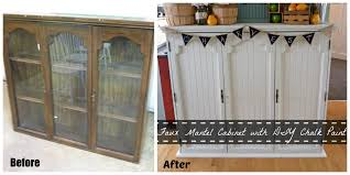 repurpose china cabinet in bedroom faux mantel cabinet from an old china hutch using diy chalk paint