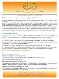 changement si e social association le registre spécial pdf
