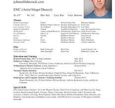 resume for acting lukex co