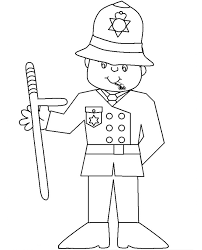 police officer traffic with tools coloring pages for kids ckr