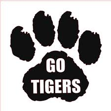 tiger paw vinyl name decal paw print vinyl decal custom