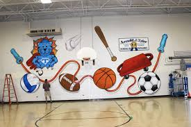 Gym Wall Murals Wall Mural For Sale School Mascot Google Search School