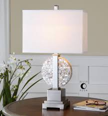 uttermost cavarno pearl mosaic table lamp layered mother of pearl