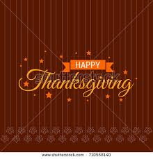 thanksgiving typography greeting card on seamless stock vector