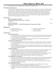 Graduate Nurse Resume Example Nursing Pinterest Pediatric Registered Nurse Cover Letter